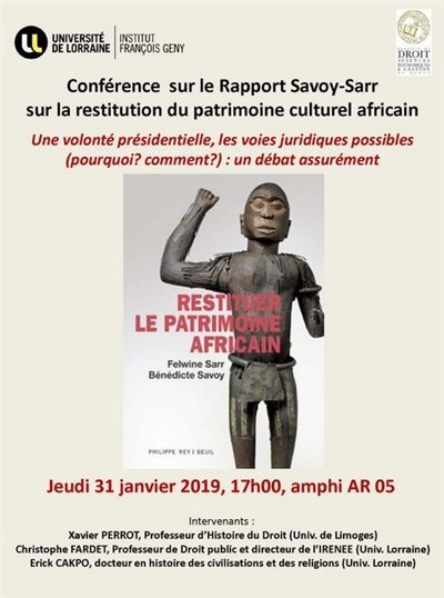 Conférence sur le Rapport Sarr-Savoy